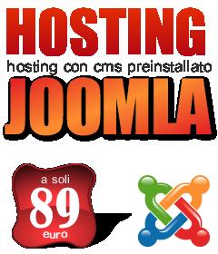 Hosting Joomla economico italiano dedicato