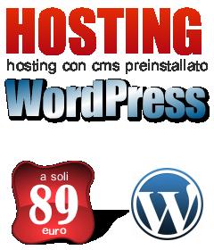 Hosting WordPress Preinstallato